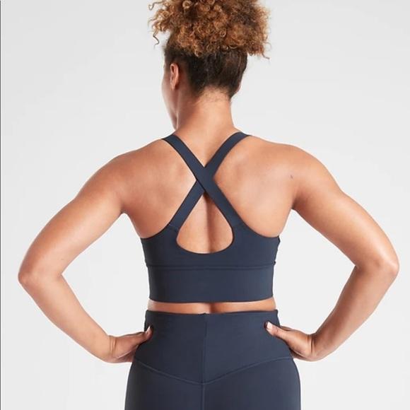 Athleta Warrior Long Line Sport bra yoga top XS